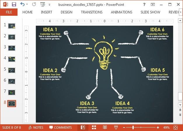 Animated mind map doodle slide