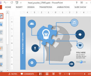 Create Animated Mind Maps With Head Puzzle PowerPoint Template