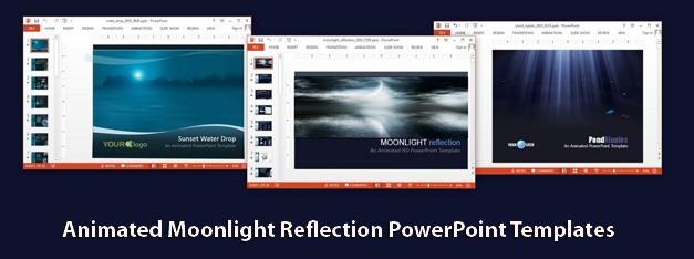 Animated moonlight reflection PowerPoint templates