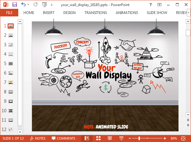 Animated picture gallery PowerPoint template