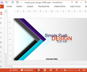 Animated Modern Design PowerPoint Template