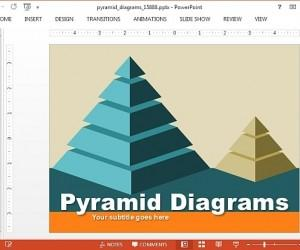 Animated Pyramid Diagrams Template For PowerPoint