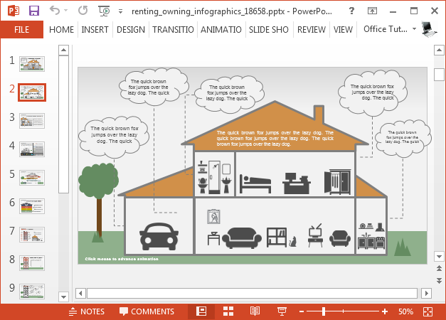 Animated real estate PowerPoint template design