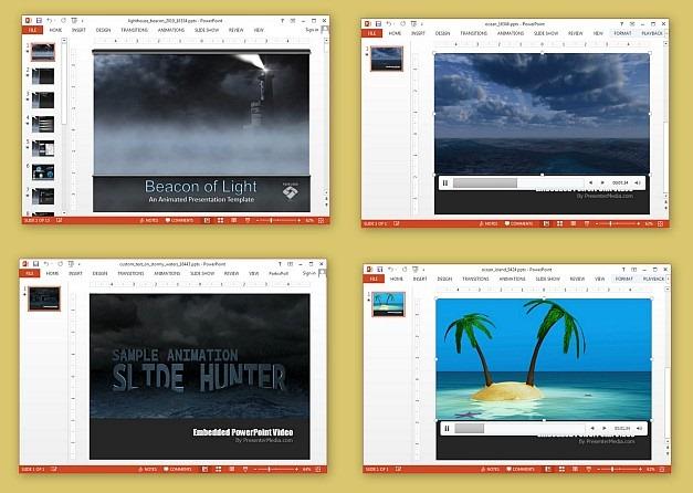 Animated sea PowerPoint templates
