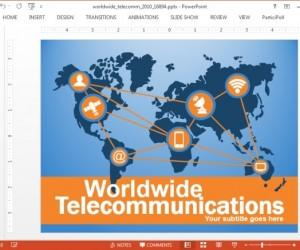 Animated Telecom & Communication PowerPoint Templates