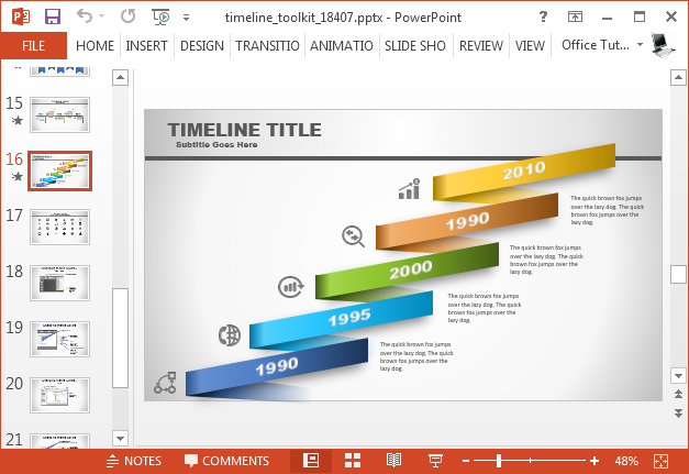 Animated template for PowerPoint