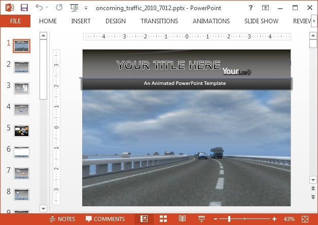 Animated traffic video for PowerPoint