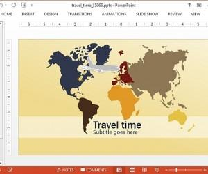 Animated Travel PowerPoint Template