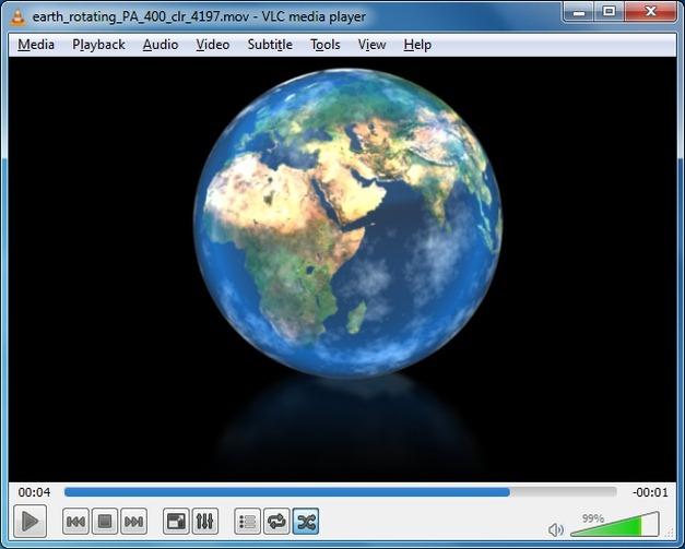 Animation of rotating earth