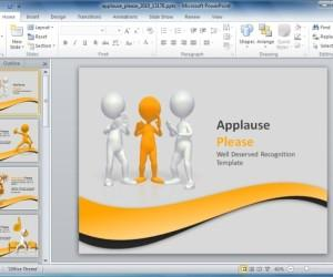 Animated Applause PowerPoint Template For Presentations
