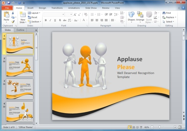 Applause PowerPoint Template