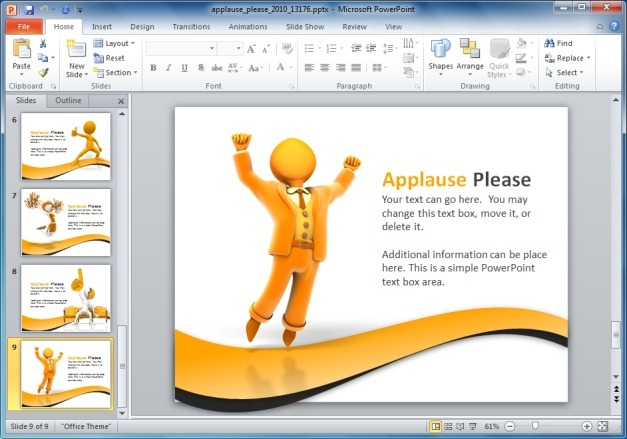 Applause Template For PowerPoint