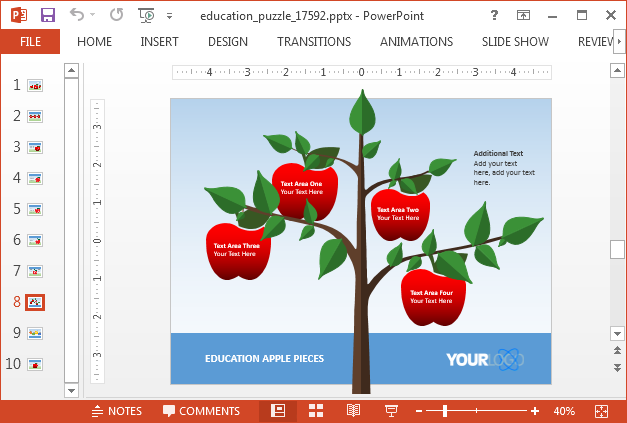 Apple tree slide design