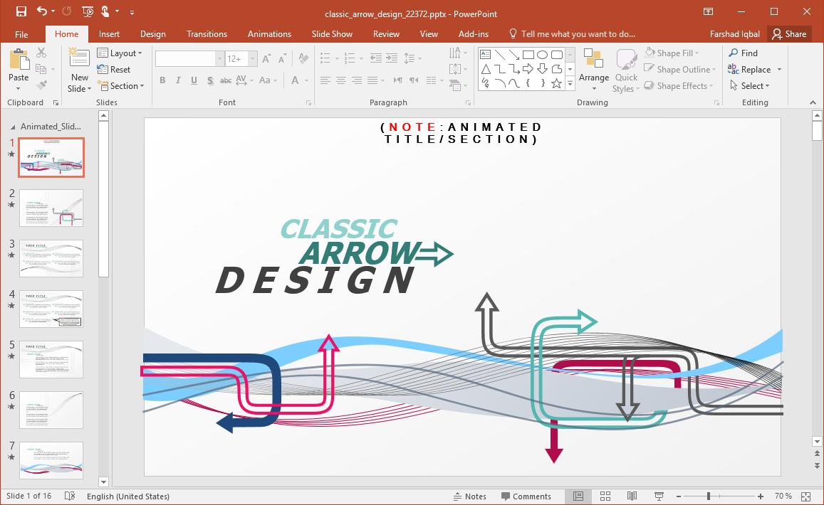 Arrow Design PowerPoint Template