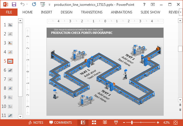 Assembly line PowerPoint template