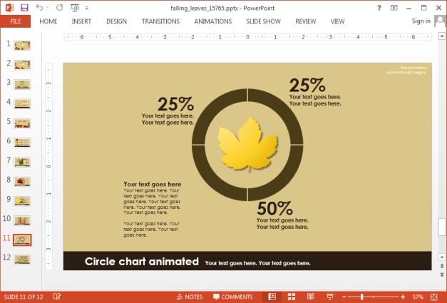 Autumn chart slide