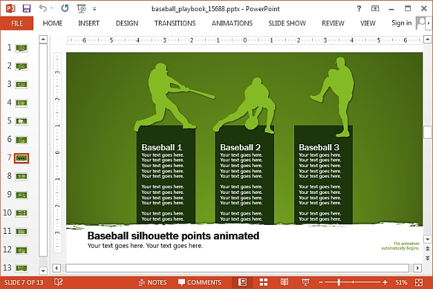 Baseball points slide