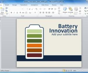 Animated Battery PowerPoint Template