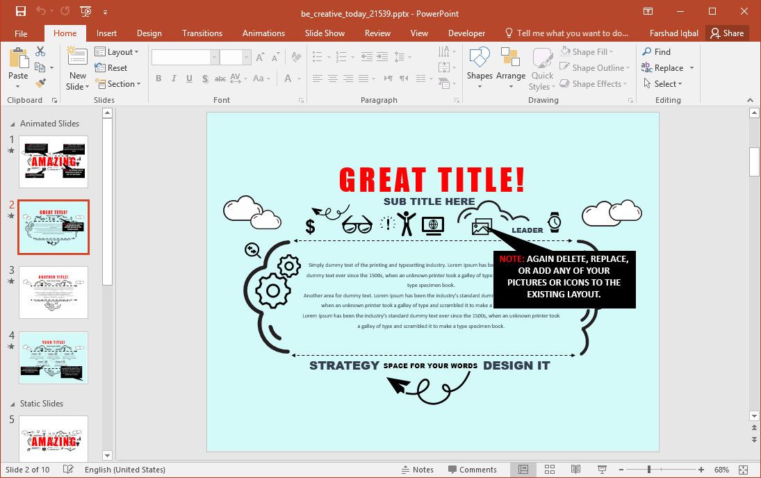 Be Creative Creative PowerPoint Template