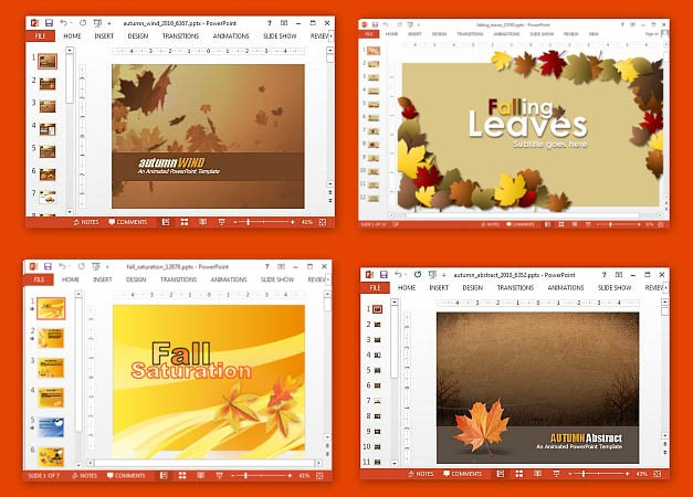 Best animated autumn PowerPoint templates