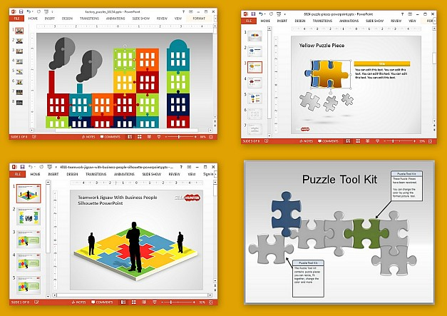 Best jigsaw puzzle PowerPoint templates