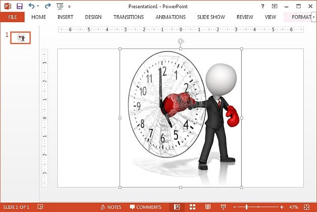 Boxer punching clock clipart
