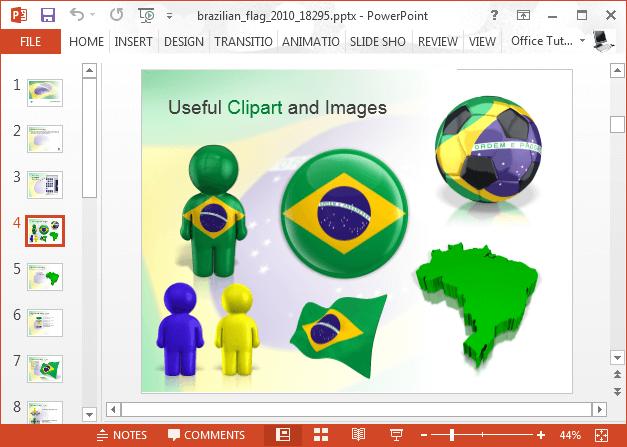 Brazil flag clipart