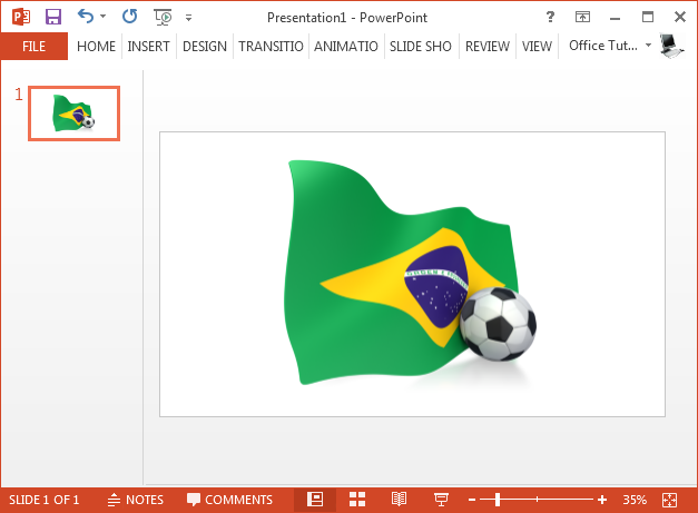 Brazil flag with soccer ball clipart