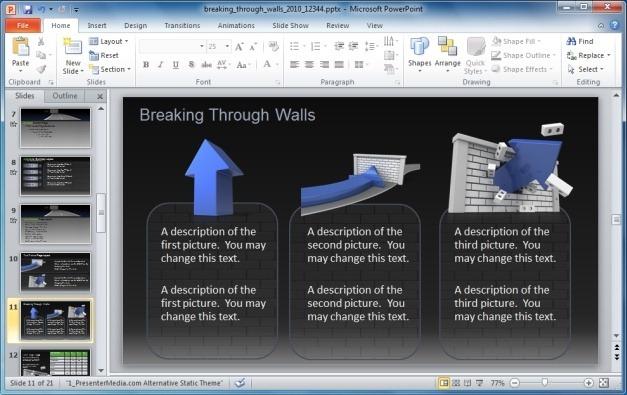 Breaking Through Walls Animated PowerPoint Template