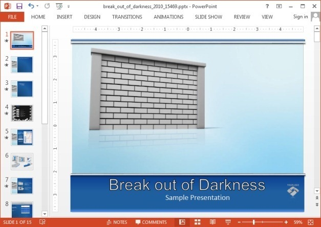 Breaking-a-wall-PowerPoint-template