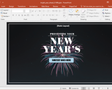Bright Year Ahead PowerPoint Template