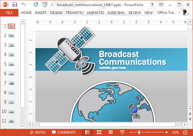 Broadcast to communicate template for PowerPoint