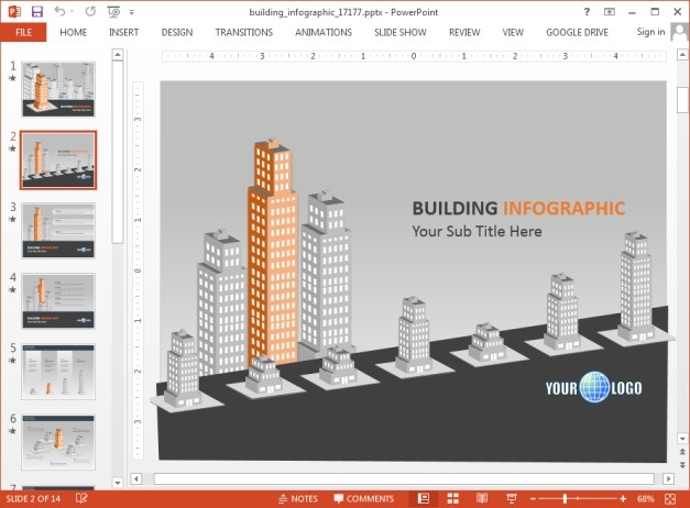 Buildings PowerPoint template