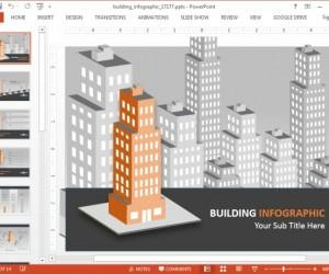 Animated Buildings PowerPoint Template