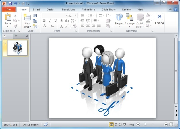 Business Team Cut Here Clipart