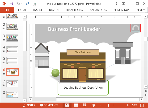 Business front PowerPoint template