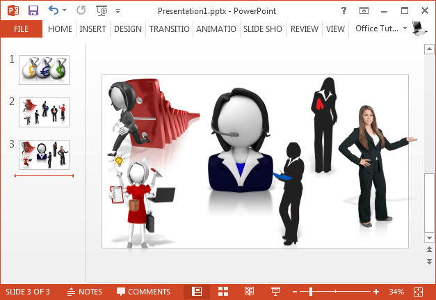 Business woman clipart collection for PowerPoint