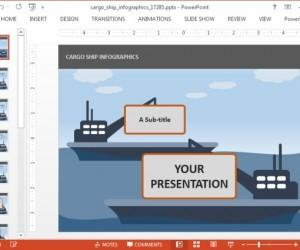 Animated Maritime Transport PowerPoint Template