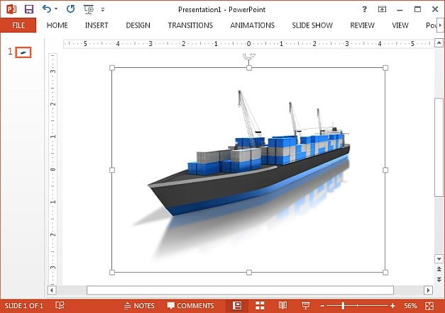 Cargo ship with shipping containers clipart