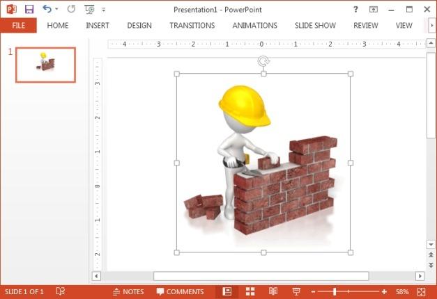 Cartoon building wall animation