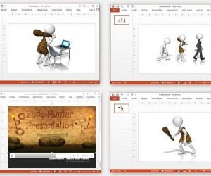 Caveman Clipart And Video Animation For PowerPoint