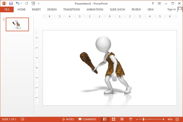 Caveman clipart for PowerPoint