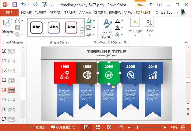 Change timeline colors