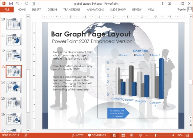 Chart slide in PowerPoint