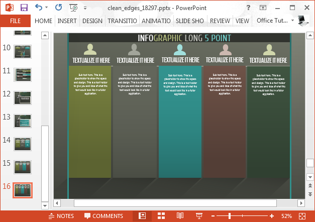 Chart slide with infographic slide design