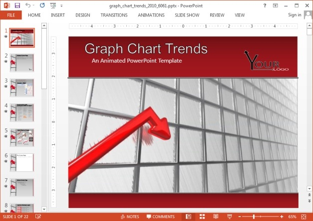 Chart trends template for PowerPoint