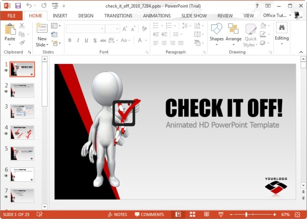 Check It Off PowerPoint Template
