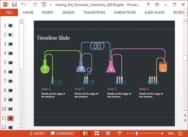 Chemistry lab slide design