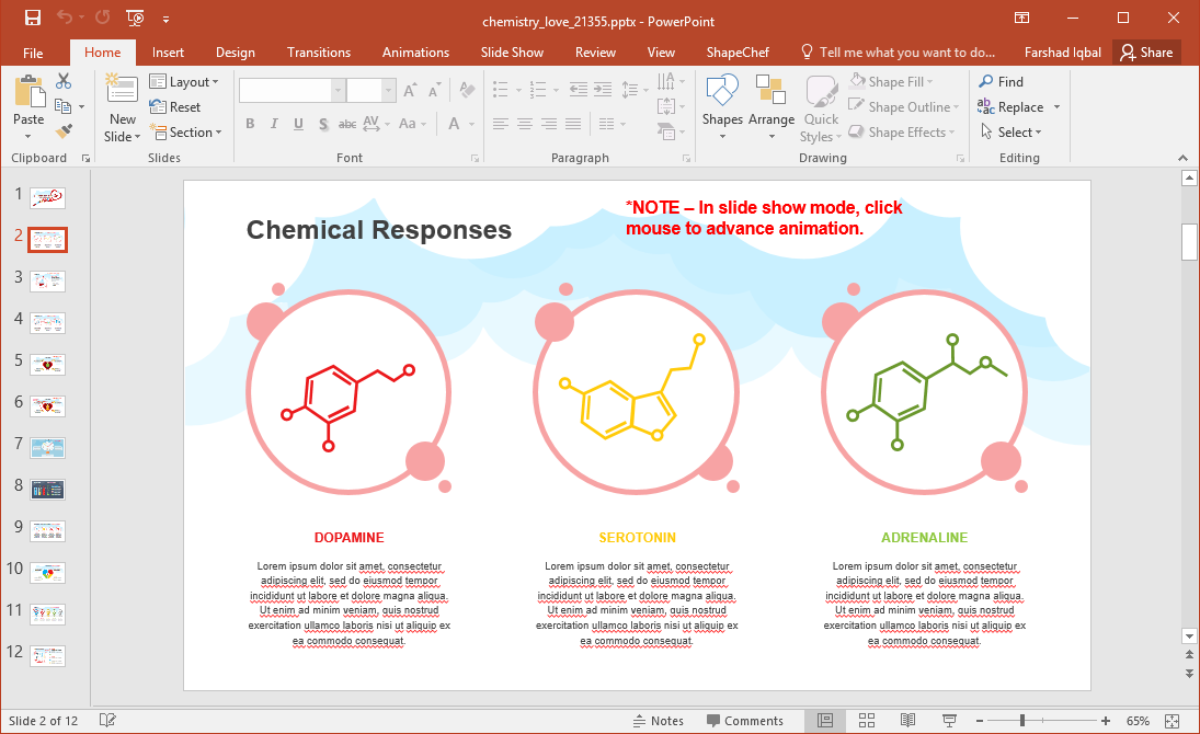Chemistry of Love PowerPoint Template