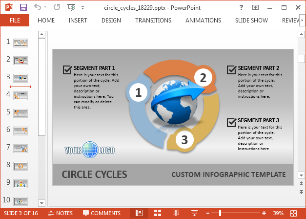 Circle cycle diagram for PowerPoint